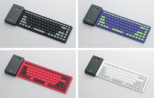 Гибкая беспроводная клавиатура Elecom