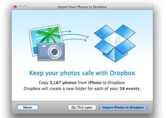 Возможности Dropbox - автоматический бэкап данных с iMac