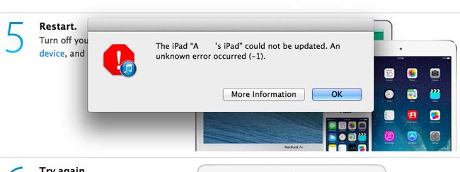 Установка iOS 8 на iPad - новая проблема подключения к серверу - прошивка - ошибка