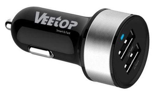 Автомобильное з/у с двумя USB-портами Veetop Dual USB High Speed или как сделать смарт кар - умный автомобиль своими руками