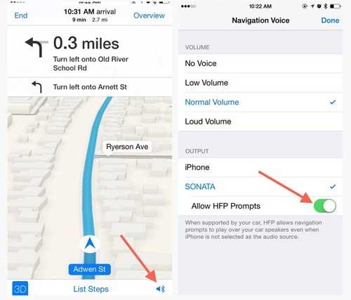 Как услышать голосовые подсказки навигатора iPhone в автомобиле, если играют CD или радио