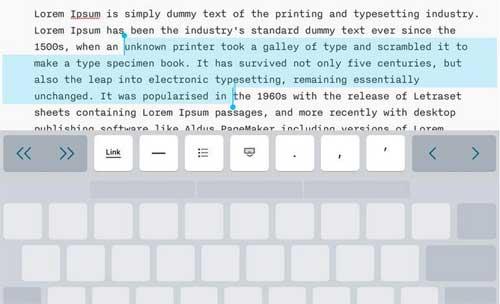 клавиатура iOS 9: трекпад и еще несколько фокусов