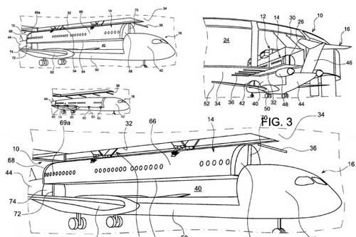 Airbus запатентовал сменный пассажирский салон для самолетов