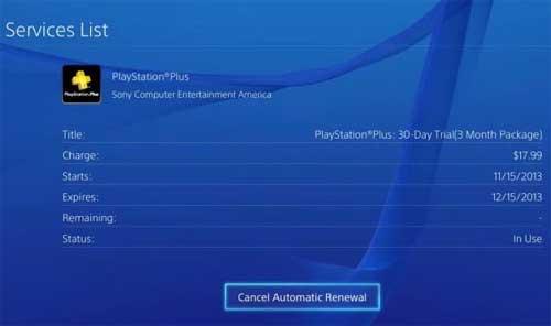 отключить PS Plus: как и где?
