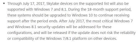В Microsoft пообещали поддержку Win 10 только на новых процах?