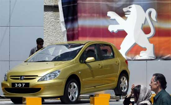 Peugeot инвестирует в иранскую автопромышленность
