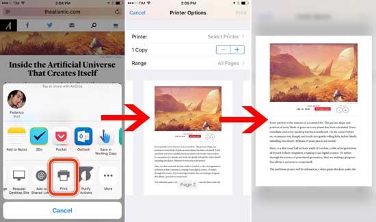 Как создать и переслать с iPhone PDF файл с помощью 3D Touch