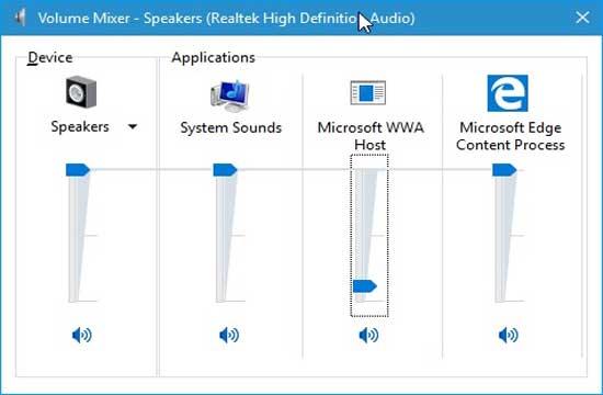 Как в windows 10 громкость приложений отдельно регулируется?