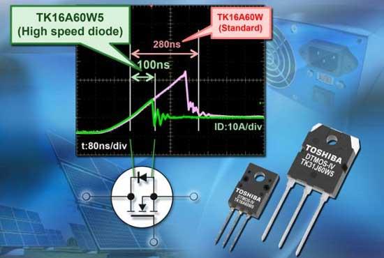Toshiba выпустила новые транзисторы Superjunction, разработанные на основе DTMOS V