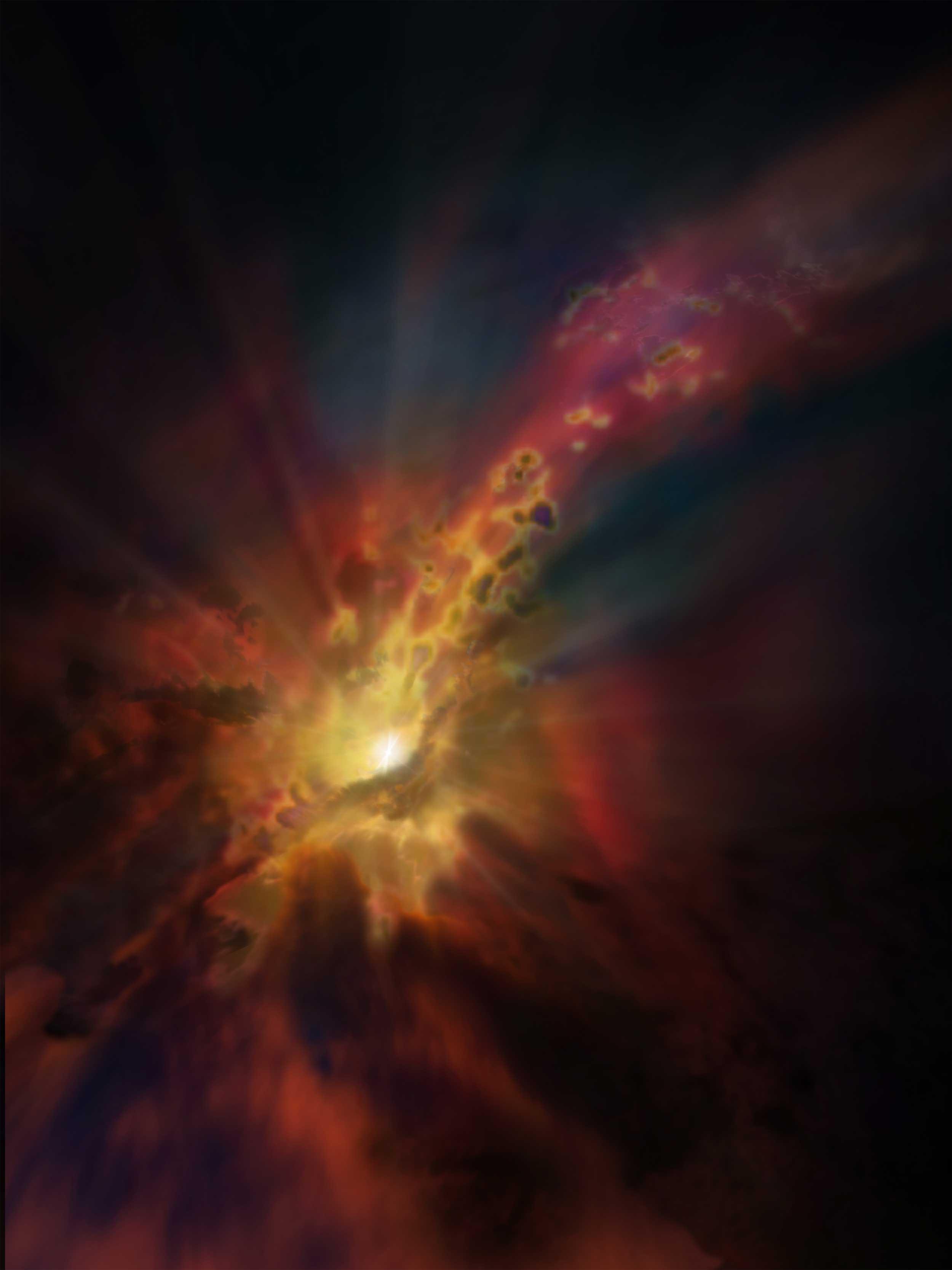 """Об особенностях """"питания"""" черной дыры в галактике Abell 2597 [фото]"""