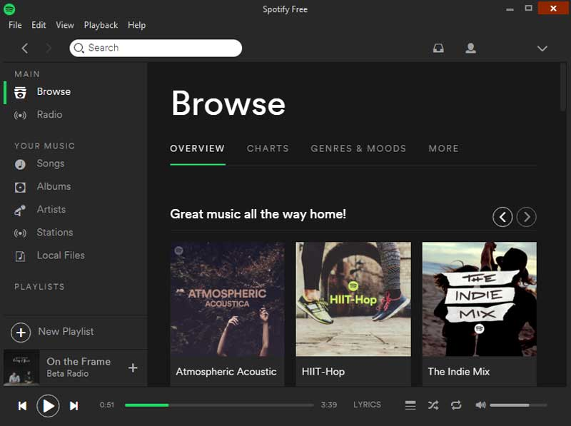 Как слушать Spotify в Windows 10: бесплатно и платно