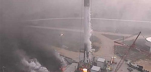SpaceX провела наземные испытания использованной ступени ракеты [видео]