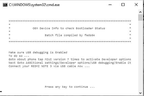 Бутлоадер в Xiaomi Redmi Note 3: проверяем статус (заблокирован/разблокирован)