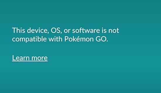...not compatible после апдейта Pokemon Go: как решать проблему - #pokemongo