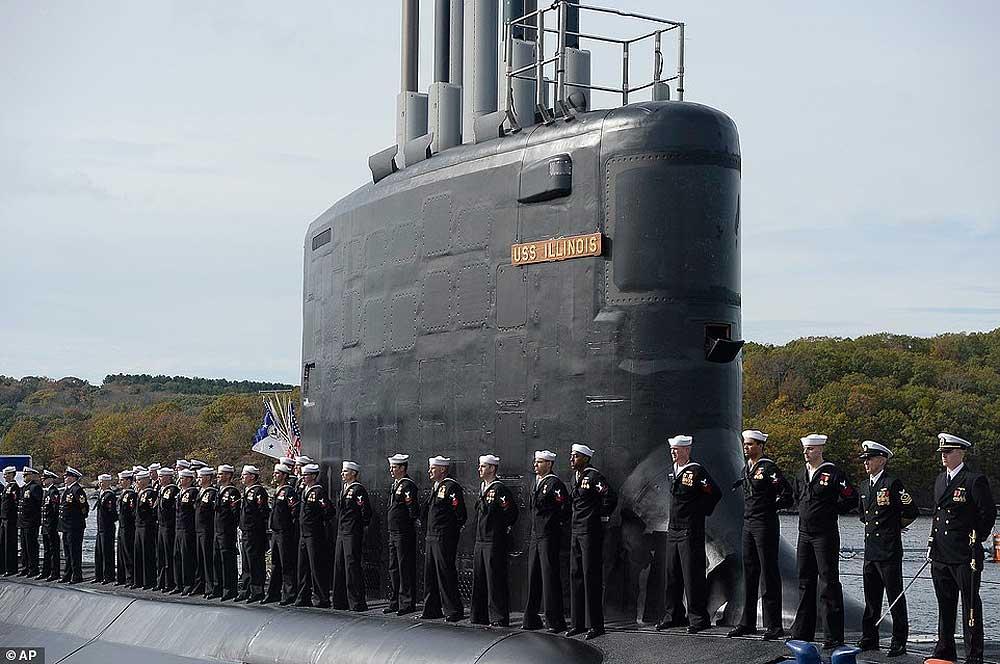 """US Navy получили еще одну """"Вирджинию"""": в состав введена SSN-786 """"Иллинойс"""" [видео]"""