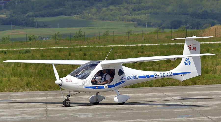 В Китае испытали версию самолета RX1E на водородных топливных элементах