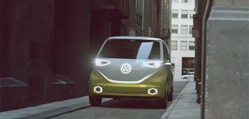 Электрический I D BUZZ в стиле хиппи-Transporter-а показал VW [видео]
