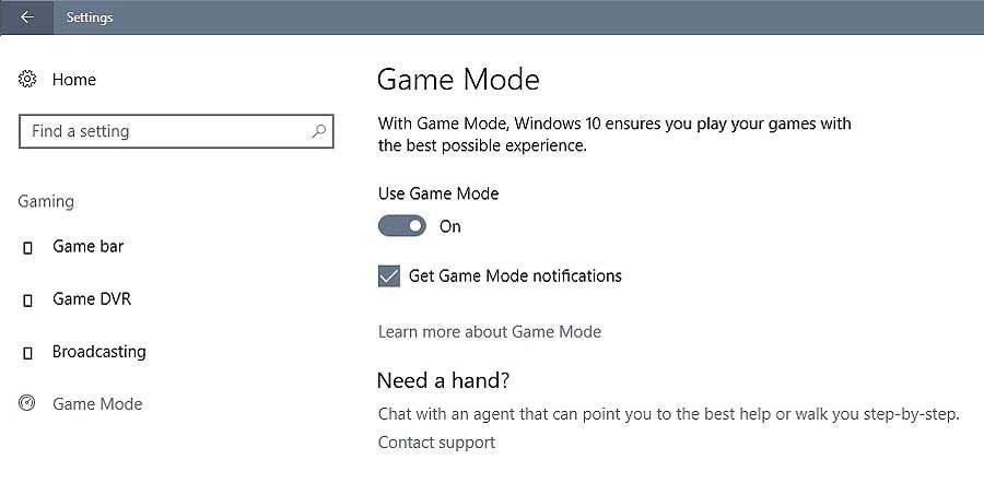 """Игровой режим в #Windows10: первые бенчмарки намекают на """"бустер""""?"""
