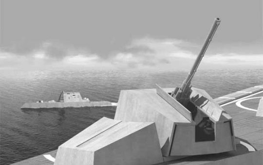 Leonardo приглашена испытать свои 155-мм Vulcano на Mk 51 AGS эсминца Zumwalt [видео]