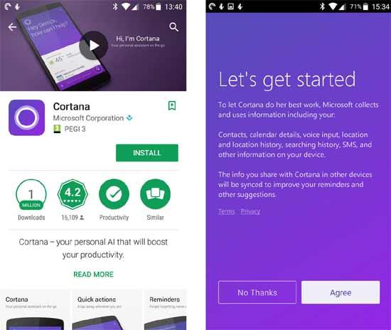 Как выглядит Cortana на Android и как ею пользоваться - #cortana