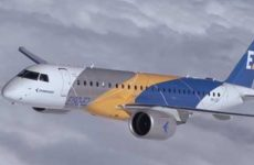 Первый официальный полёт E190-E2 E-Jet от Embraer [видео]