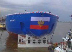 «Арктика»: головной атомный ледокол проекта 22220 спущен на воду [видео]