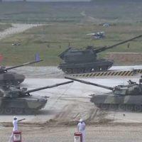 Открытие АрМИ-2016: стартовал танковый биатлон [видео]