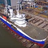 Damen спустила на воду первое судно для обслуживания ветропарков [видео]