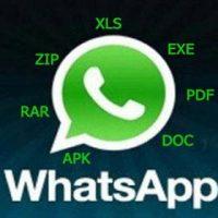 Как переслать в WhatsApp файлы в ZIP, RAR, APK, EXE, PDF, DOC, PPT, XLS