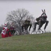 Сани Санта Клауса в стиле hightech-military от Boston Dynamics [видео]