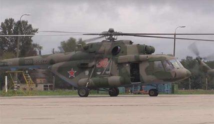 Партия ударных Ми-28Н и транспортно-боевых Ми-8МТВ-5: поступила в войска ЗВО [видео]