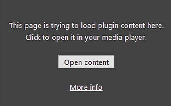 """Как открыть нужный контент, если """"Этот плагин не поддерживается"""""""