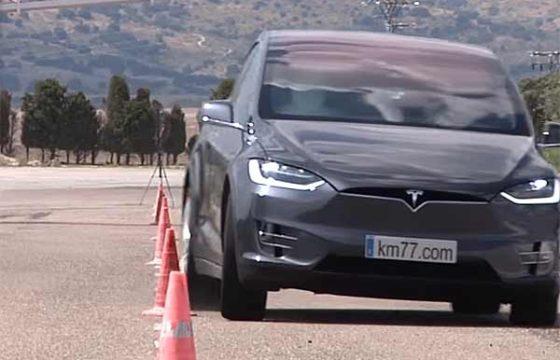Лосиный тест в исполнении Tesla Model X: как это было [видео]