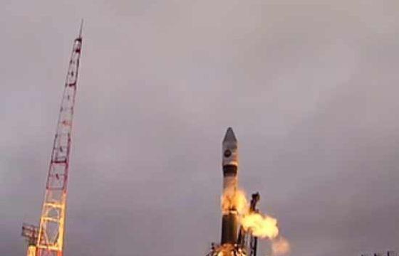 Старт «Союза-2.1в» с военным спутником с космодрома «Плесецк» [видео]