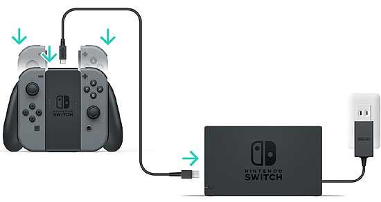 Как заряжать джойконы игровой консоли Switch