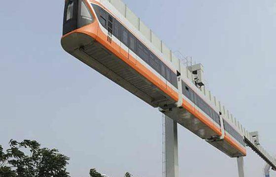 Китайская CRRC Qingdao Sifang тестирует «Небесный поезд» [видео]