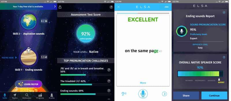 ELSA Speak - шлифуем английское произношение в мобильном режиме