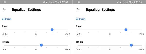 +/- 6дБ - как настроить басы и высокие в колонке Google Home