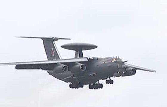 Самолет радиолокационного дозора и наведения А-100 совершил новый полет [видео]