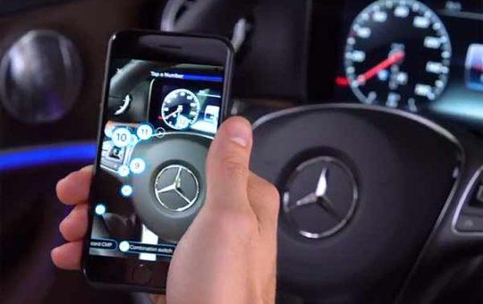 Mercedes-Benz представила AR-мануал для нового E-Class [видео]