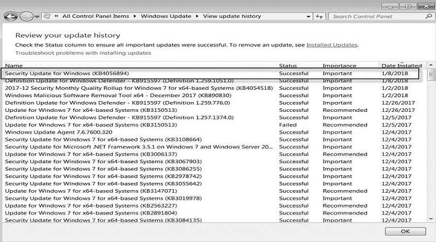 BSOD 0x000000c4 и синий экран в Windows 7 после апдейта KB4056894 - что делать - #Windows7