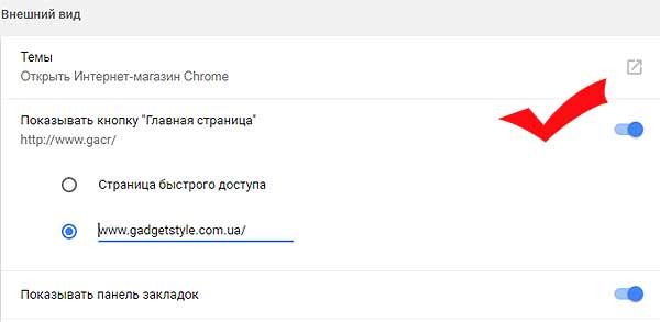 Кнопка Главная страница: как включить её в браузере Chrome