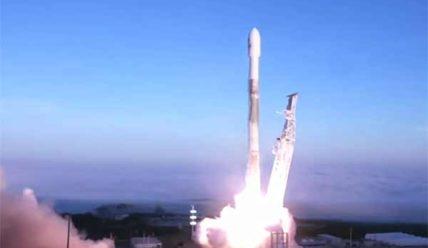 Старт Falcon 9 с новой партией спутников Iridium NEXT [видео]