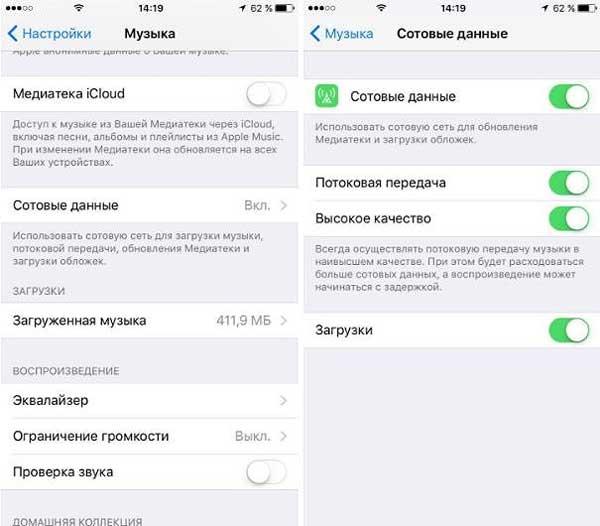 Режим максимально качественного потокового аудио в iPhone или iPad: как включить