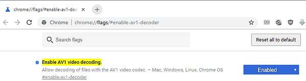 Кодек AV1: как включить поддержку в браузере Chrome или Firefox