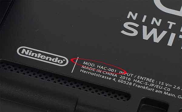 Номер модели Nintendo Switch: где его искать