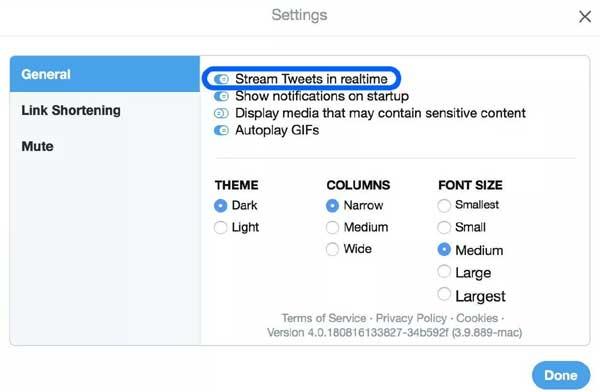 Как публиковать сообщения в Twitter с Mac-а в потоковом режиме