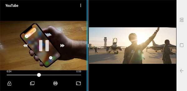 Две игры или два видео на одном экране Galaxy Note 9 одновременно: как настроить