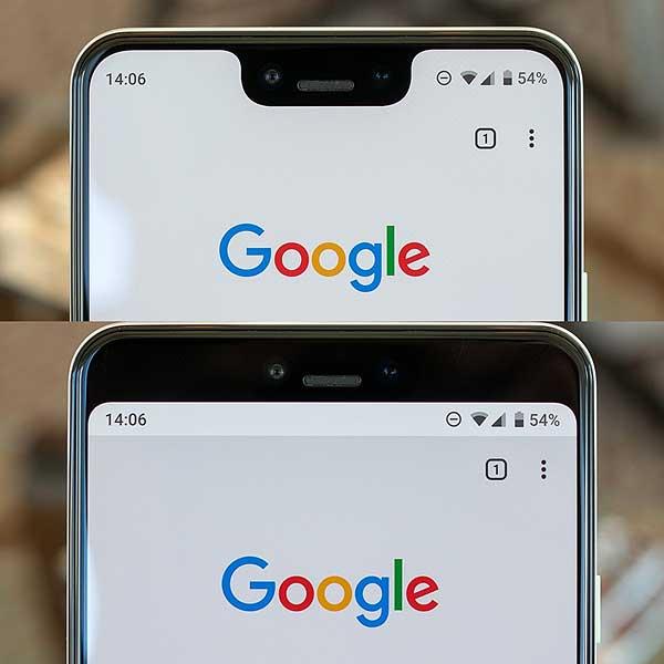 Как скрыть вырез на экране смартфонаPixel 3 XL