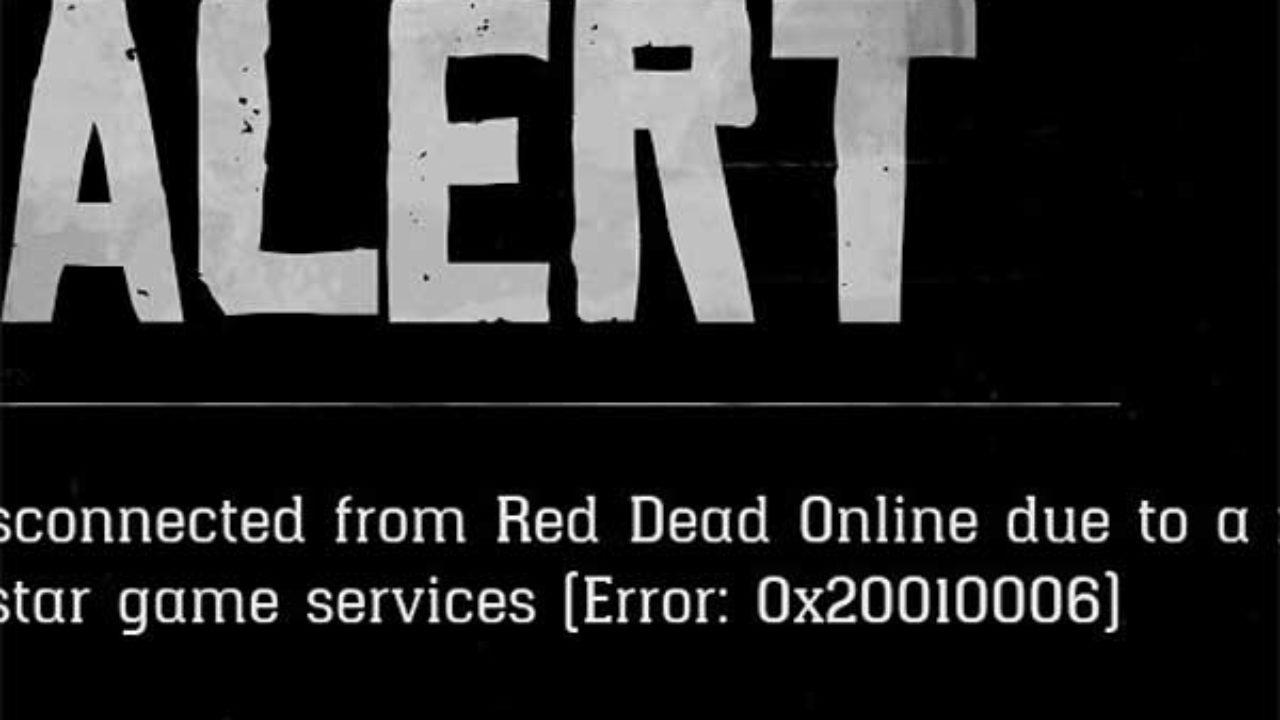 Ошибка 0x20010006 в Red Dead Online: как устранять